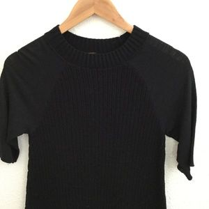 Free People Dresses - Free People | Short Sleeve Ribbed Dress Black Sz S